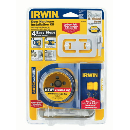Irwin 2-3/4 in. L Bi-Metal Door Lock Installation Kit 1