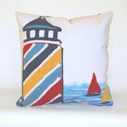 Liora Manne Lighthouse Indoor / Outdoor Throw Pillow