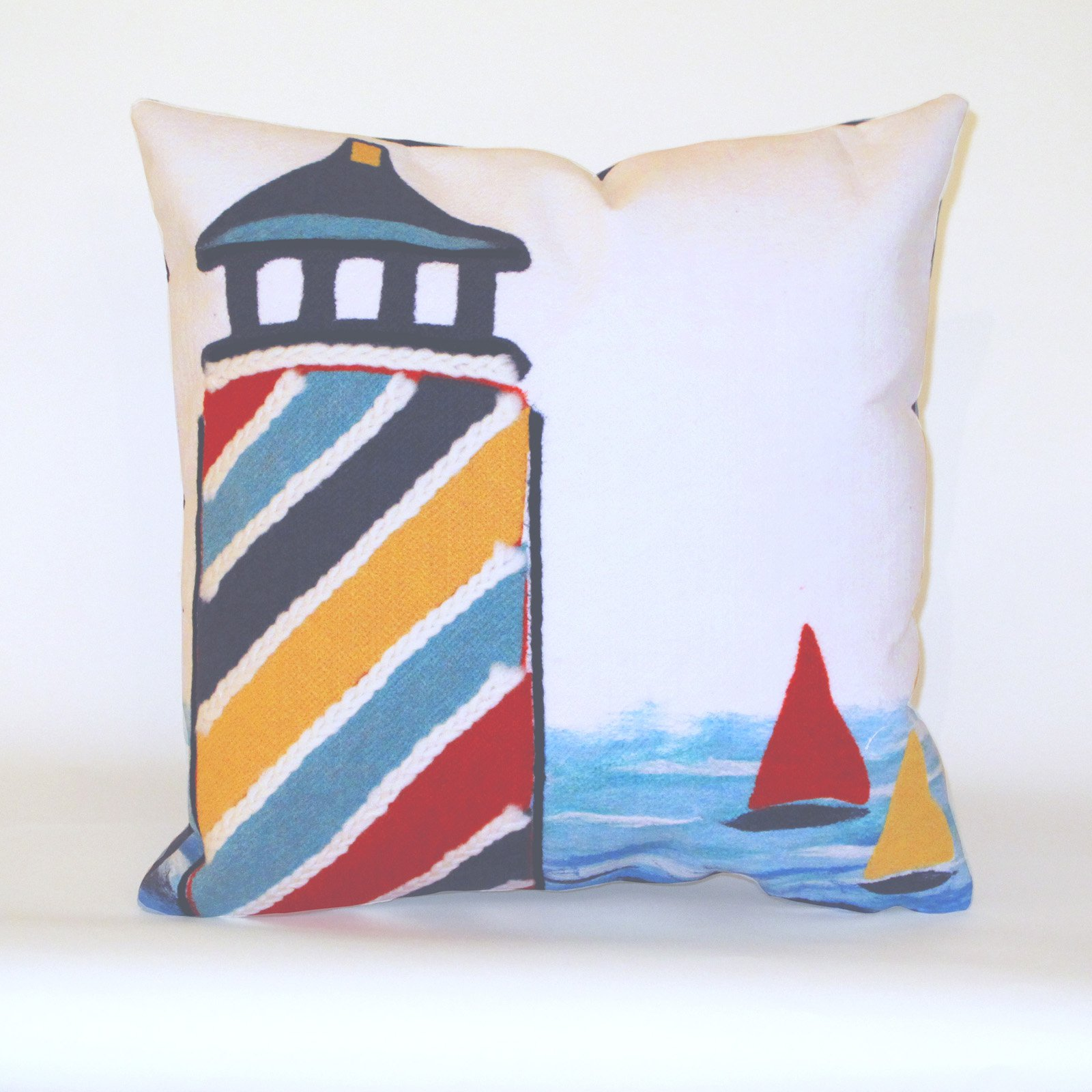 Liora Manne Lighthouse Indoor / Outdoor Throw Pillow
