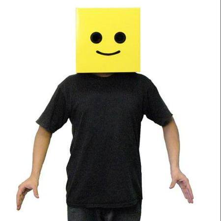 Jack In The Box Halloween Costume Head (Male Yellow Brickman Costume Box)