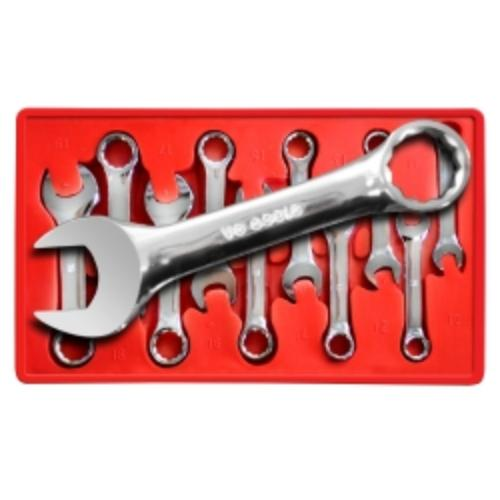 V8 Tools 8910 10 Piece Metric Stubby Combination Wrench Set 10mm To 19mm