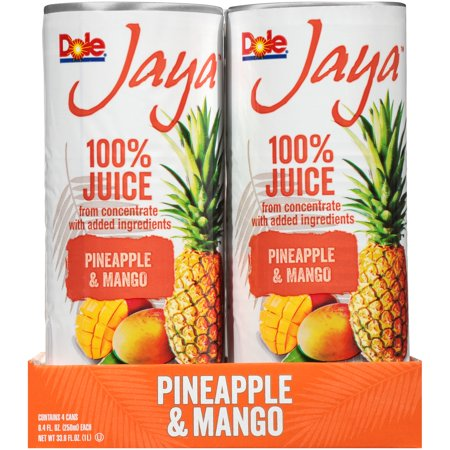 (6 Pack) Dole Jaya 100% Pineapple & Mango Juice 4-8.4 fl. oz.