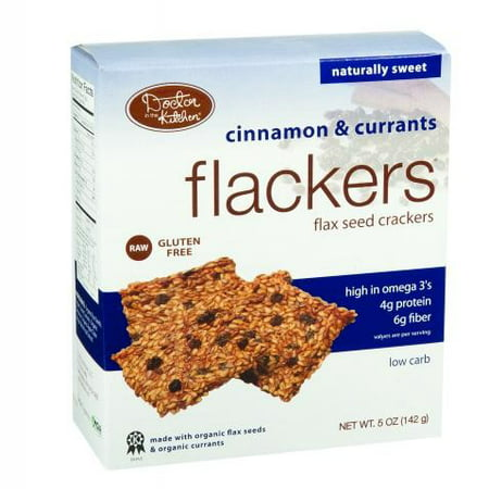 Flax Seed Gluten Free - Doctor in the Kitchen Flackers Organic Flax Seed Crackers Cinnamon & Currants, 5.0 OZ