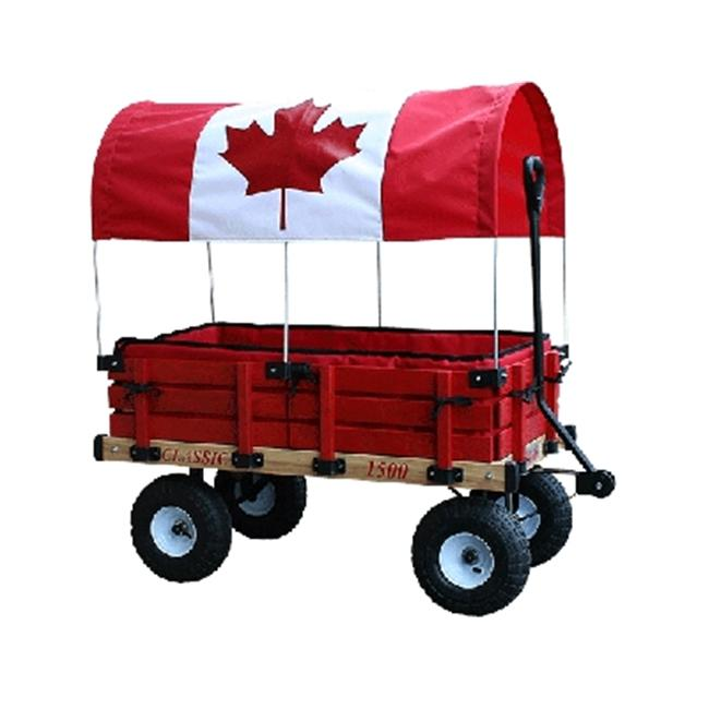 Millside Industries 04879 20 inch x 38 inch Wooden Cdn Covered Wagon with Pads