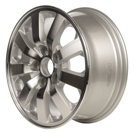 2008-2010 Honda Odyssey  16x7 Alloy Wheel, Rim Silver Metallic Textured with Machined Face - 63985 - Silver Face