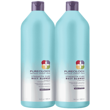 Pureology Strength Cure Best Blonde Shampoo And Conditioner Liter