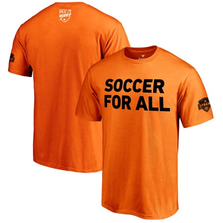 huge selection of 33e41 20e63 Houston Dynamo Fanatics Branded 2018 Soccer For All T-Shirt - Orange