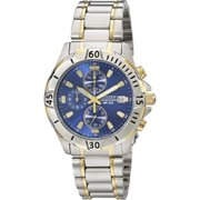 Best Citizen Watches - Citizen Men's Chronograph Two Tone Stainless Steel Bracelet Review