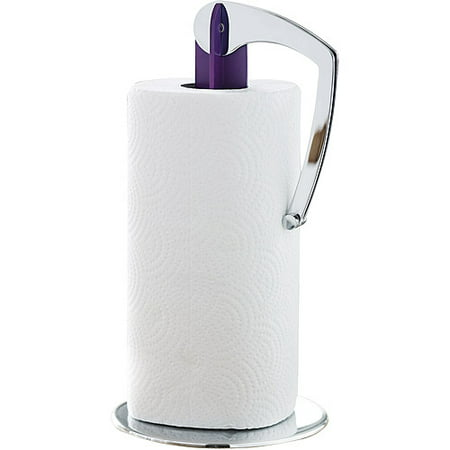 Herstal Squeezer Paper Towel Holder Chrome And Purple