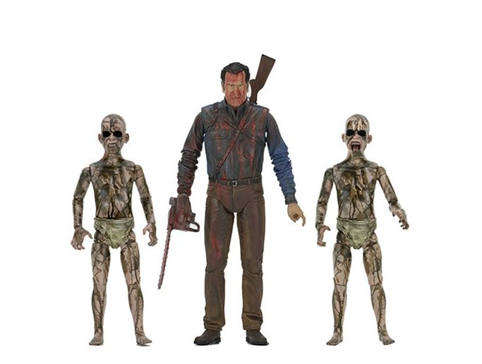 NECA EVIL DEAD 2 Bloody Ash Faces Demon Spawn Action Figures by BBCW