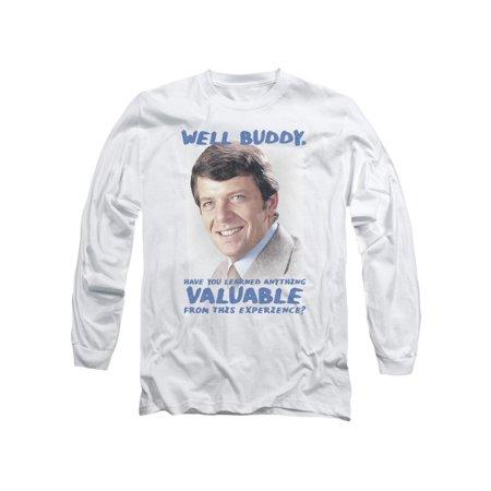 Brady Bunch 1970's Family Sitcom TV Show Mike Brady Buddy Adult L-Sleeve T-Shirt