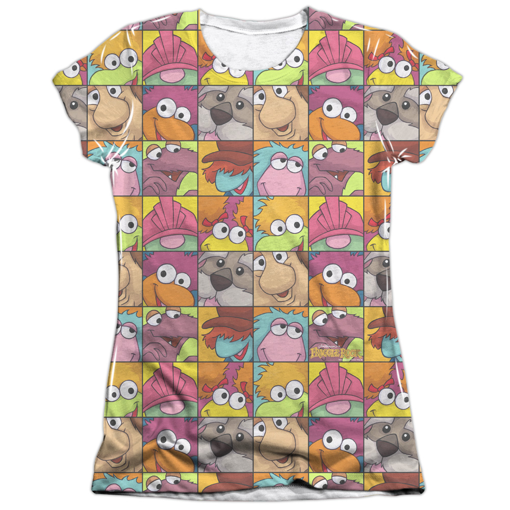 Fraggle Rock Character Squares Juniors Sublimation Shirt