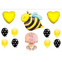 What Will It BEE Baby Shower Gender Reveal Party Balloons Decorations Supplies, What Will It BEE Baby Shower Balloon Decorations Supplies By Anagram