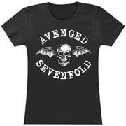 Avenged Sevenfold  Classic Deathbat Girls Jr Black