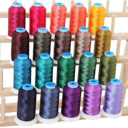 Threadart 20 Cone Set Polyester Embroidery Thread 1000m Spools 11