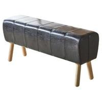 ACME Dessa Bench, Black PU & Natural