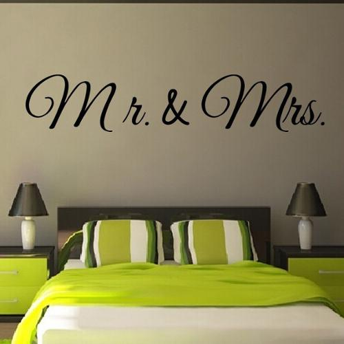 Stickalz llc Mr and Mrs Love family Quote Vinyl Sticker Wall Art