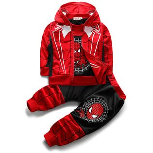 Toodler Boys Spider Man Three Piece Outfit Set](Spider Outfit)
