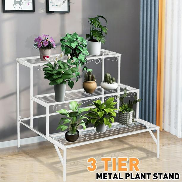 3 Tier Metal Iron Plant Flower Pot Stand Shoes Holder Display Shelf Storage Rack