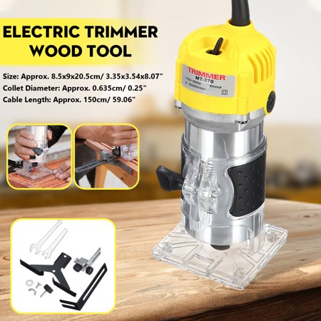 1 4 Inch 6 35mm 30000rpm Electric Hand Trimmer Router Woodworking Cutter Edge Wood Laminate Palm Router Joiners Tool Woodworking