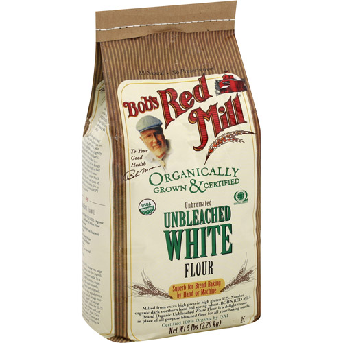 Bob's Red Mill Unbleached White Flour, 5 lb (Pack of, 4)