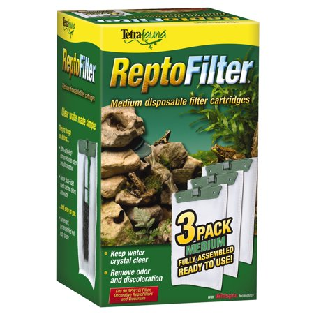 Tetra ReptoFilter Cartridges 3 Pk - Medium