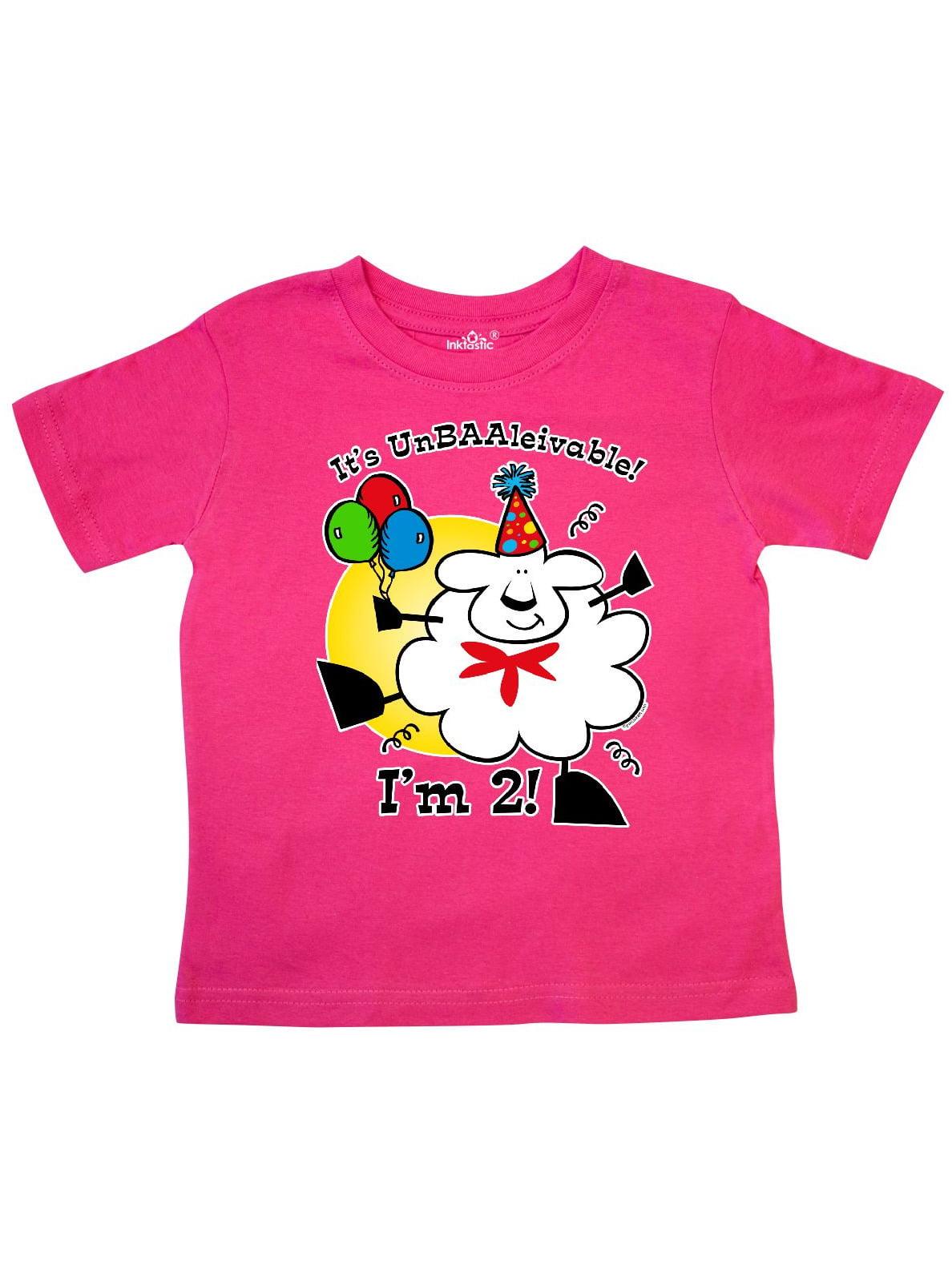 inktastic Pink Balloons Im 2 2nd Birthday Toddler T-Shirt
