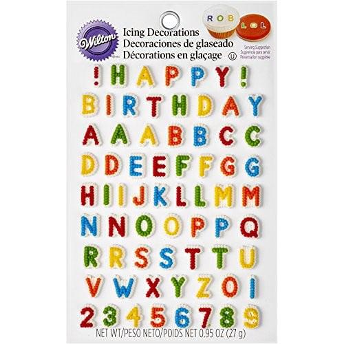 Design Letters abc masking tape set Happy Birthday