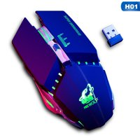 AkoaDa Rechargeable X11 Wireless Bluetooth Silent Led Backlit Usb Optical Ergonomic Gaming Mouse