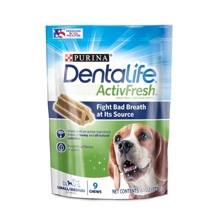Dog Care Kit (Purina DentaLife Small/Medium Breed Dog Dental Chews, ActivFresh Daily Oral Care Small/Medium Chews - 9 ct. Pouch )