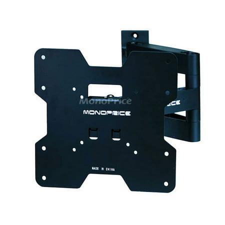 Monoprice Titan Series Swivel Dual Pivot Single Arm Wall Mount For Small 20