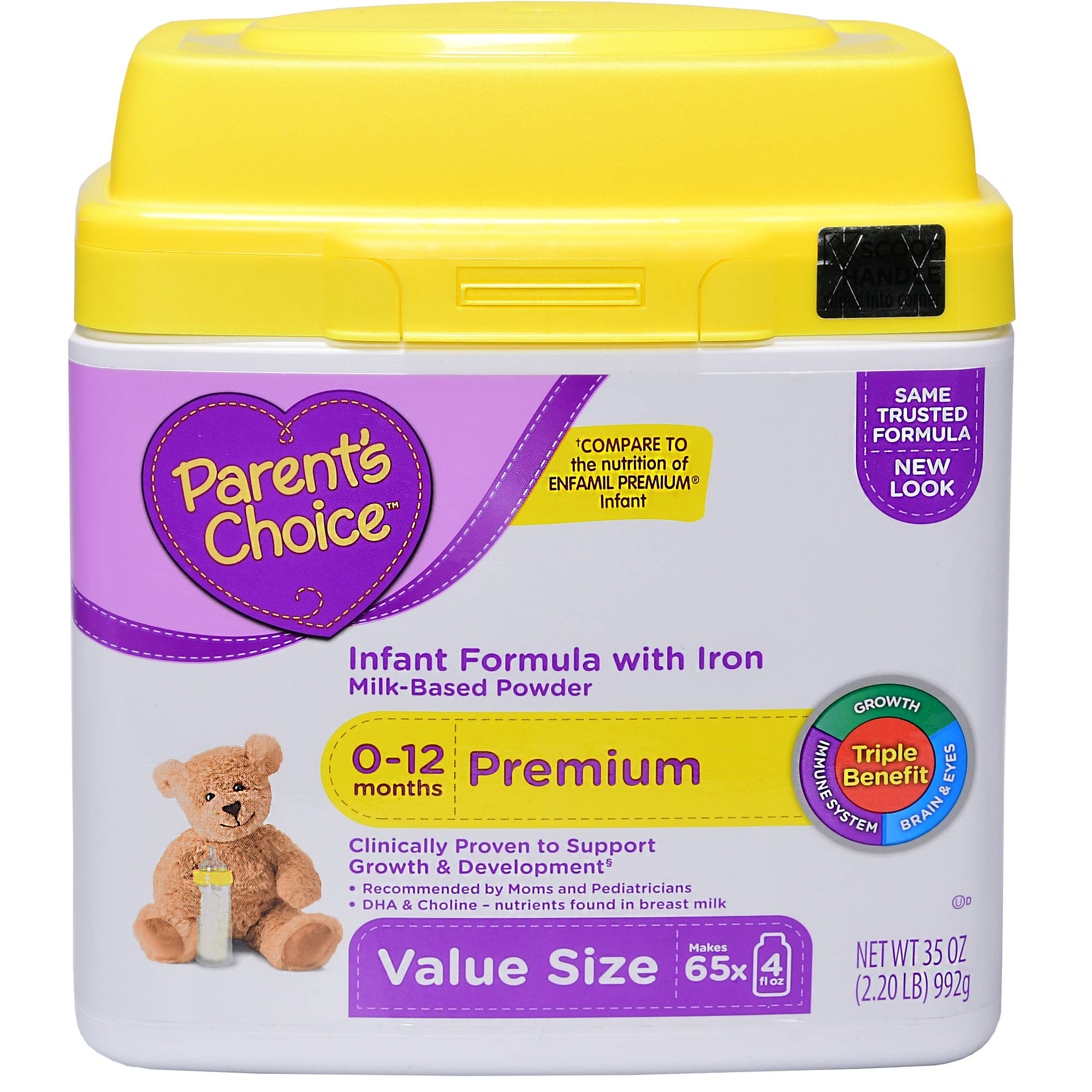 Parent's Choice Infant Powder Formula with Iron, 35oz