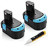 Powerextra 2 Pack 18V 2.0Ah Battery for Hitachi EB 1814SL EB 1820L C 18DL C 18DLX WR 18DMR WR18DL