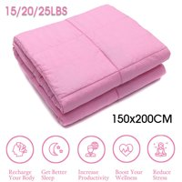 "60""x 80"" Premium Weighted Blanket for Adults,Reduce Anxiety Stress,15/20/25Ibs"