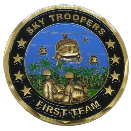 1st Cavalry Division Vietnam Veteran Sky Troopers Challenge Coin [Gold - 1.5