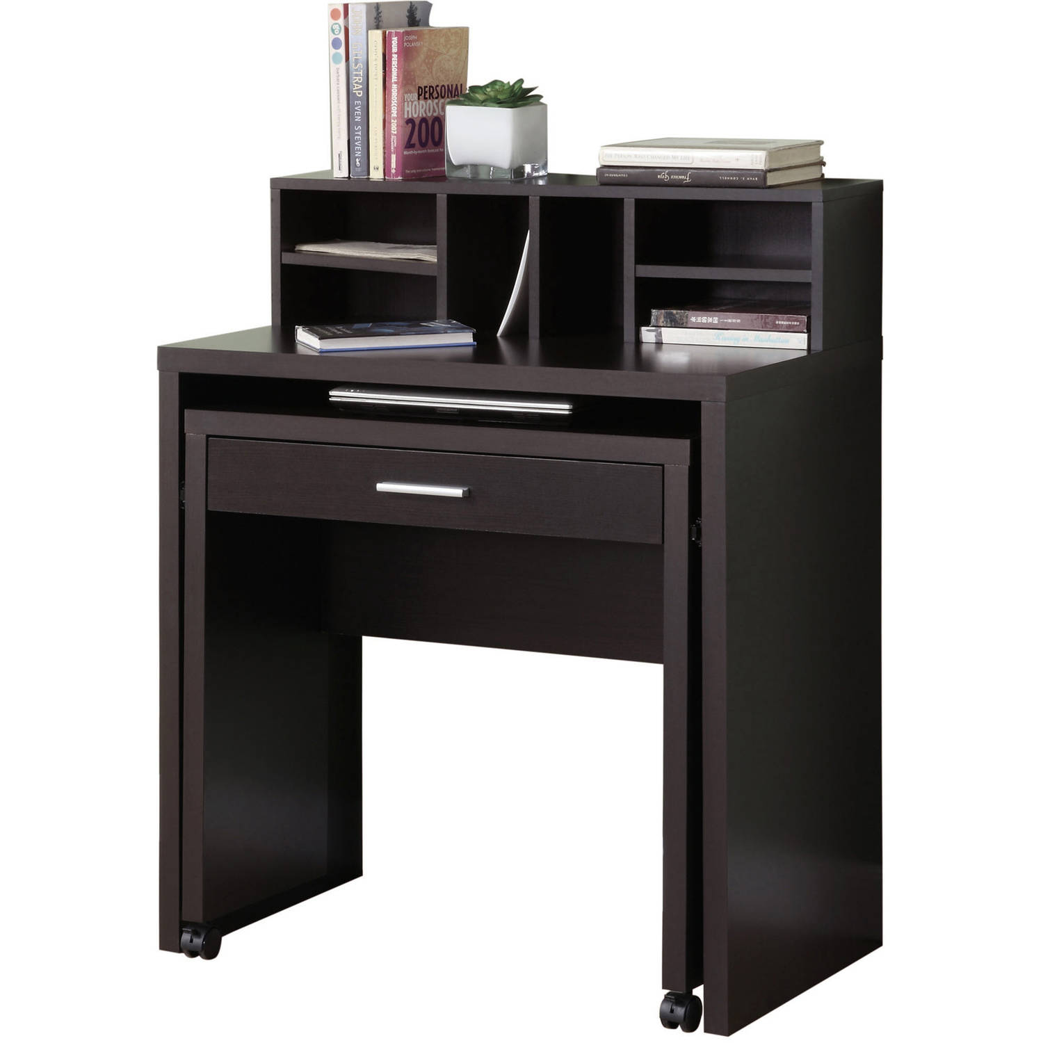 MONARCH - COMPUTER DESK - CAPPUCCINO SPACESAVER WITH OPEN STORAGE