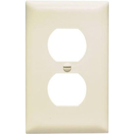 Almond 1 Gang 1 Duplex Outlet Opening Nylon Wall Plate Pass and Seymour
