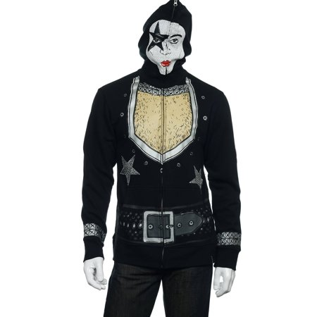 Volcom 'Kiss' Men's Black Graphic Kiss Paul Stanley 'Starchild' Full Zip -