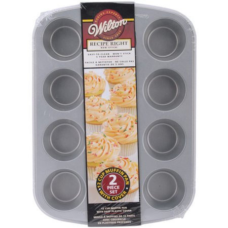 Wilton Recipe Right 12-Cavity Covered Muffin Pan 2105-1832 (Wilton Cupcake Recipe)