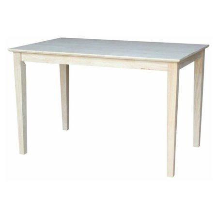 International Concepts Unfinished Grayson Large Dining Table with Shaker Legs