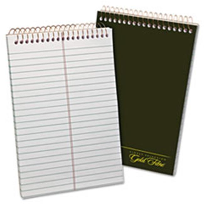 Tops Products 20806 Gold Fibre Spiral Steno 6 x 9 Book, Gregg, White-Green - 100 Sheets