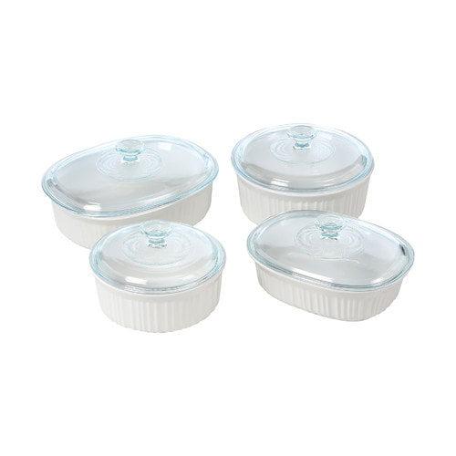 Corningware French White 8 Piece Bake & Serve Set
