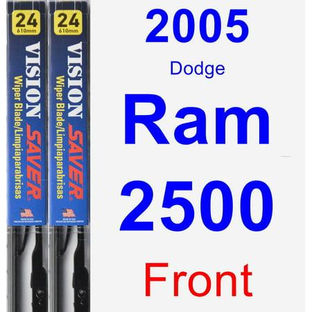 2005 Dodge Ram 2500 Wiper Blade Set/Kit (Front) (2 Blades) - Vision