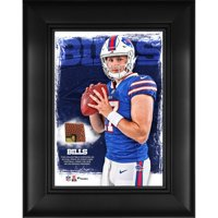 "Josh Allen Buffalo Bills Framed 5"" x 7"" Player Collage with a Piece of Event-Used Football"