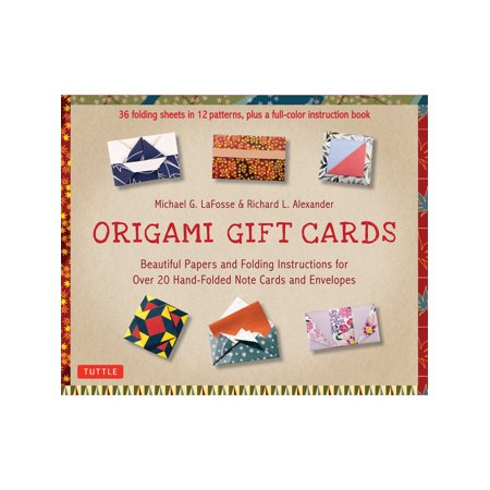 Ingram Publishers Services Origami Gift Cards Note Card and Envelope Kit - 36 Folding Sheets with Instruction Book