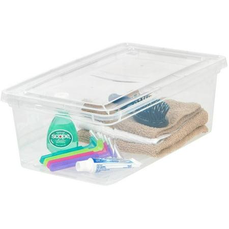 IRIS USA 6 Quart Plastic Storage Box, Clear, 1 Pack (Telefon-chat Usa)