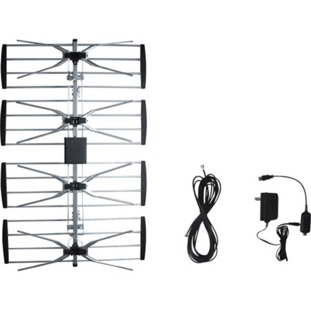 Digiwave ANT2092 Outdoor TV antenna with booster  with 8m 3C-2V coaxial cable with CUL approval adaptor