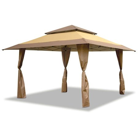 Z-Shade 13 x 13 Foot Instant Gazebo Canopy Tent Outdoor Patio Shelter, Tan (Instant Gazebo)