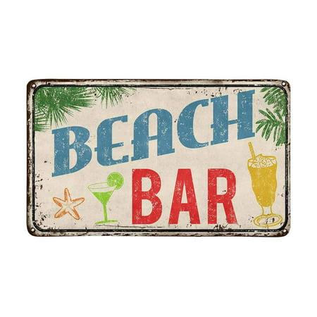 Bar Sign 39 Inch Island Decor - MKHERT Hawaiian Beach Bar Vintage Rusty Metal Sign Doormat Rug Home Decor Floor Mat Bath Mat 30x18 inch