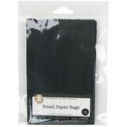 "Small Paper Bags 3.5""X5.5"" 12/Pkg-Black"